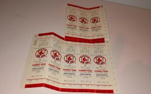 Lot of Unused 1994 Boston Red Sox Tickets (8)