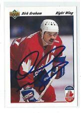 Dirk Graham Signed 1991/92 Upper Deck Card #502
