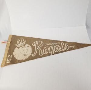 RARE! NBA Cincinnati Royals Felt Pennant Vintage Basketball 50s/60s/70s GS0387