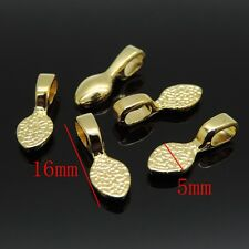 50pcs Gold Plated Spoon Glue on Bail Earring Bails For Glass Tile DIY Pendant