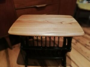 Superb ERCOL Vintage Mid-Century Coffee Table Magazine Rack Stand Side Table VGC