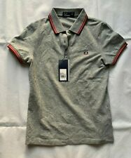 FRED PERRY G9762 CLASSIC TWIN TIPPED VINTAGE STEEL COLOUR WOMEN POLO T-SHIRT