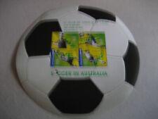 Australia 2006 Calcio in Australia Ovpt le Salon Du Timbre & De L'Ecrit Foglio