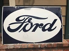Original Huge Vintage 1930s Porcelain Ford Dealer Sign, Veribrite Signs - Chicag