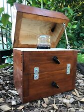 Stingless Native Beehive Honey Jar Design | Stained | OATH Bee Hive Side Entry