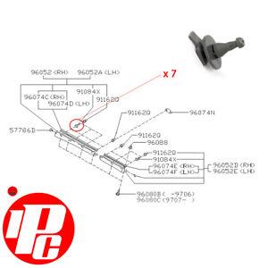 7x Genuine Side Pin Clips Fits: Subaru Impreza 92-00 WRX STi P1 22B RA