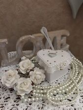 Wedding Ring Shabby Chic Ring Pad Box Burlap