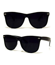 NEW RETRO AVIATOR DARK BLACK SUNGLASSES SHADES RAVE 80S VINTAGE GLASSES