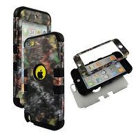 PCSoftArmor Fallen Camo  Blk Strip For  Apple iPod Touch 6 6th Gen Case Cover