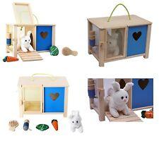 Peluche coniglio morbido casa casetta conigliera in legno e accessori
