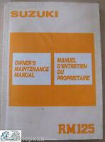 99011-27C50-01B Manual Del Propietario Suzuki RM125 K EN-FR