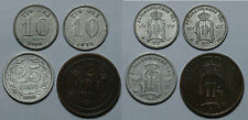 SUECIA.  LOTE COMPUESTO POR 4 MONEDAS. 2,10(2), 25 ORE.  MBC / EBC -.