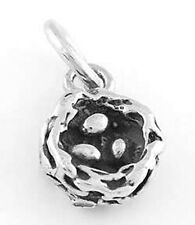 STERLING SILVER BIRD'S NEST WITH EGGS CHARM PENDANT