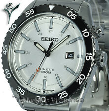 SEIKO KINETIC SILVER DIAL SPORTS With STAINLESS STEEL BRACELET SKA615P1