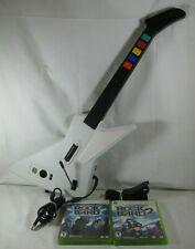 Xbox 360 Guitar Hero Gibson Xplorer Guitar USB Wired Controller + 2 Games, Strap