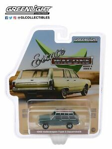GREENLIGHT 29970-B 1/64 ESTATE WAGONS  1969 VOLKSWAGEN TYPE 3 SQUAREBACK
