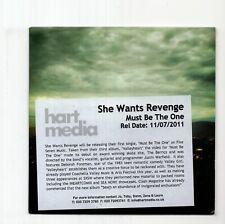 (JB304) She Wants Revenge, Must Be The One - 2011 DJ CD
