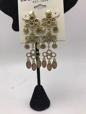$35 Lucky Brand gold tone reversible stone  chandelier Earrings Lc222