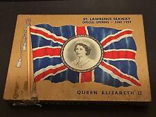 Macdonald's CIGARETTE TIN Queen Elizabeth II ST. LAWRENCE SEAWAY 1959 Part Band!