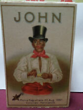 1930s Box/Insert JOHN CIGARROS Negro in Top Hat Hojas de la Habana Colunas Herma