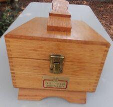 "Vintage Griffin Shinemaster Golden Oak Shoe Shine Box, Approx. 11""x8""x8"""