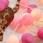 2.2M 20 LED Cotton Ball Fairy String Lights Party Wedding Christmas Decor Lights