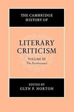 The Cambridge History of Literary Criticism, Vol. 3: The Renaissance-ExLibrary