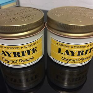 Two(2) Layrite Original Hold Pomade 4.25oz