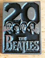 THE BEATLES 20th Anniversary Clasp Pin (1984) Capitol Records Lennon McCartney