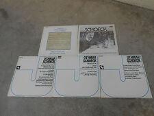 OTHMAR SCHOECK-5 LP'S-IMP-SWISS-LIEDER-LOOSLI-THEO HUG-JECKLIN-NM
