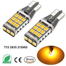 2PCS Amber T15 Canbus 2835 21-SMD LED Light Bulbs for Back-Up Reverse Light Lamp