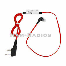 2 PIN Red walkie talkie Noodle Earpiece For two way radio Baofeng UV-5R TG-UV2