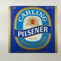 Carling Pilsner Beer Bottle Label Carling O'Keefe Breweries Vancouver Canada