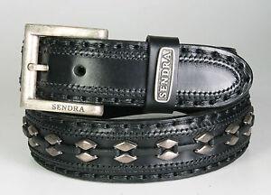 8340 Sendra Gürtel Negro mit kleinen Metallplättchen Wechselgürtel