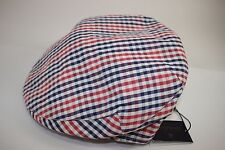 NWT BROOKS BROTHERS Size Lrg Men's Red White Blue Check 100% Cotton Driving Cap