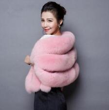 Womens Faux Fox Fur Shawl Chic  Cape Weddings Wrap Cape Evening Coat Outwear