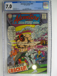 Adventure #372, Legion, Neal Adams Cover, CGC, Fine/VF, 7.0, Off-White Pages
