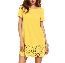 Vestito Donna Mini Abito Orlo Traforato Copricostume Woman Mini Dress 110271 P