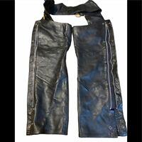 SUPER NICE HARLEY DAVIDSON Black Leather WOMEN'S CHAPS XS