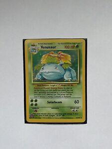 Base set Holographic Venusaur 15/102 Pokemon Card - Excellent Condition
