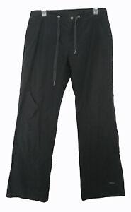 ATHLETA Pants Size M Medium Black Pockets Casual Seamed Flaw Cotton Nylon