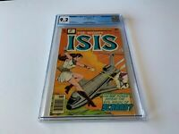 ISIS 1 CGC 9.2 WHITE PAGES CBS TV SERIES SCARAB WALLY WOOD DC COMICS