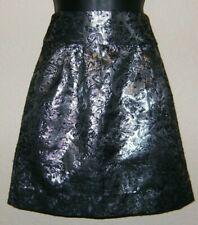 Silence + Noise Skirt Metallic Silver Womens Size 2 Cocktail Skirt