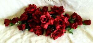 Swag Silk Roses Artificial Flowers Fake Wedding Arch Table Runner Centerpiece