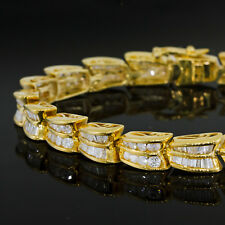 Nice Vintage Estate 14k White Gold 8.40ctw Diamond 4mm Wide Tennis Bracelet Durable In Use Bridal & Wedding Party Jewelry
