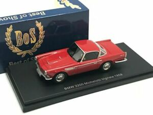 BMW 3200 MICHELOTTI VIGNALE 1959 RED BOS 43016 1/43 RESINE ROSSO ROT ROUGE