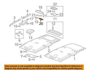HONDA OEM Interior-Roof-Lamp Lens Left 34401S5A003