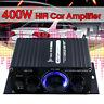 400W Stereo HIFI Car LED Light 2Channel Home Power Sound Amplifier Speaker Audio