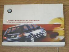 BMW 3 SERIES TOURING E46 OWNERS MANUAL HANDBOOK  1999 - 2001  FREE UK POSTAGE
