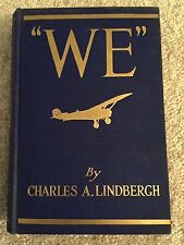 """We"" by Charles Lindbergh First Edition, Fifth Impression July 1927 Aviation"